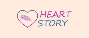 Логотип HeartStory (PSD макет) купить