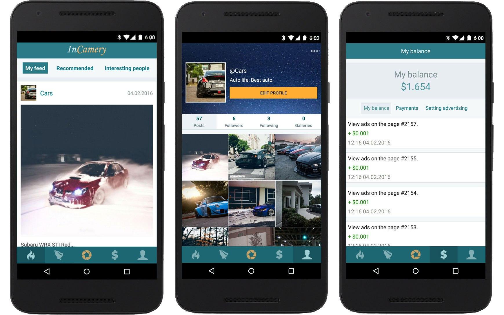 Приложение InCamery для Android купить