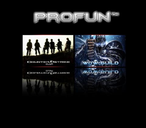 Сайт клана ProFun с форумом