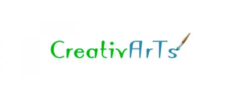 Логотип CreativArts (PSD макет)