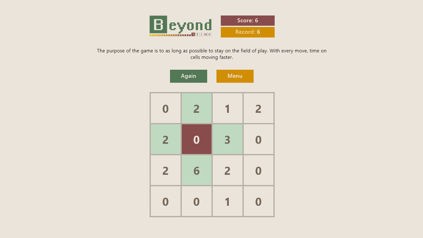 Дизайн игры Beyond Time для Windows