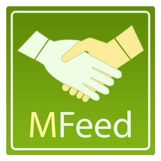 Логотип приложения MFeed (PSD макет) купить