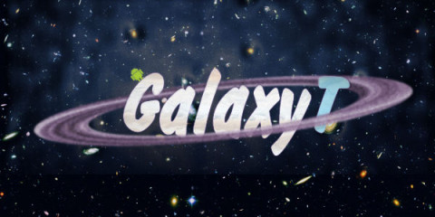 Логотип GalaxyT (PSD макет)