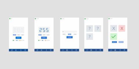 Минималистичный дизайн игры казино (Android, iOS)