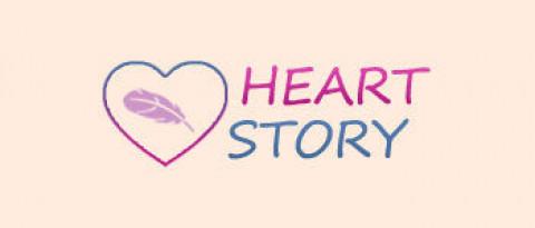 Логотип HeartStory (PSD макет)