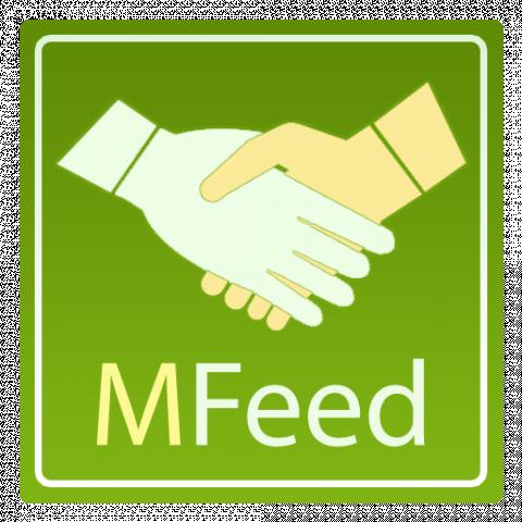 Логотип приложения MFeed (PSD макет)