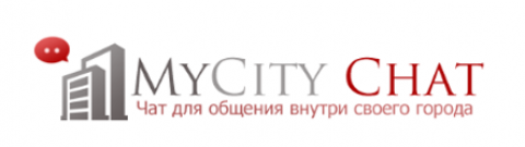 Логотип MyCity Chat (PSD макет)