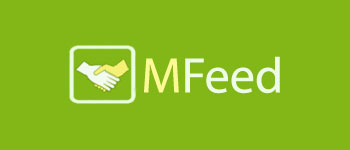 Логотип MFeed (PSD макет) купить
