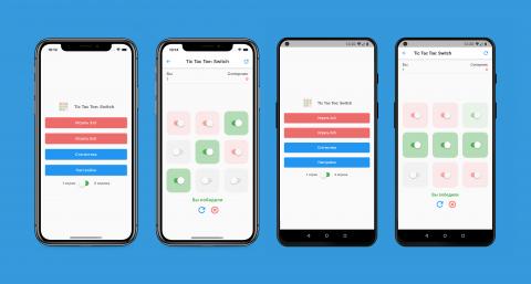 Дизайн игры Tic Tac Toe: Switch для iOS и Android
