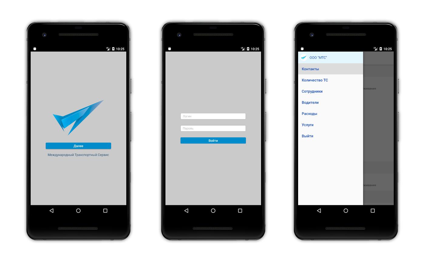 Дизайн приложения MTS для Android