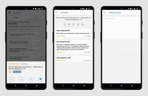 Система отзывов (рейтинга) для Android