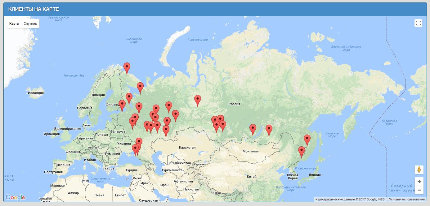 Интеграция Google Maps API в фреймворк Yii2