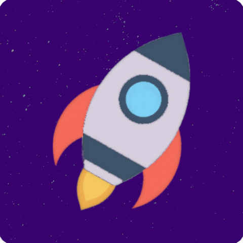 Логотип для мобильной игры Speed of Space для Android и iOS
