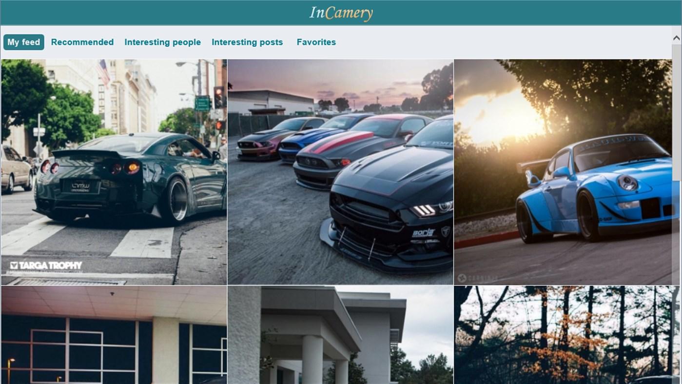 Приложение фото социальной сети с доходом InCamery для Windows