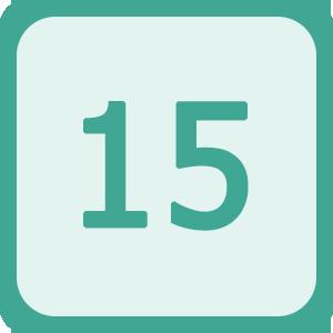 Логотип для мобильной игры пятнашки в ряд для Android