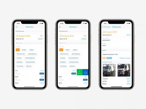 Детализация по мойке для клиента в iOS приложении