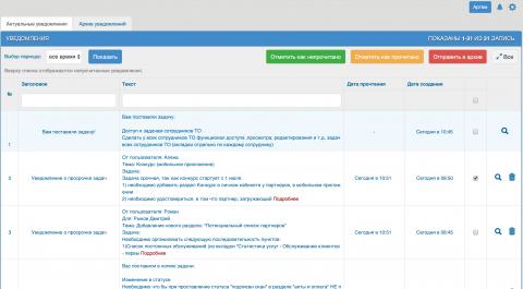 Разработка системы уведомлений для Yii2