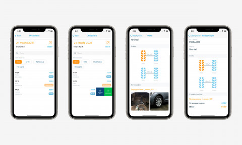 "Раздел ""Обслужено"" в MTS для iOS"